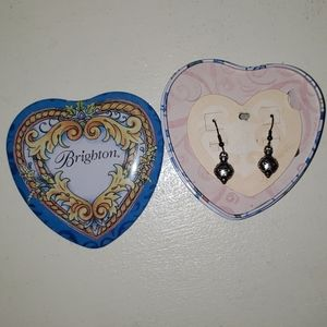 Brighton new never worn dangle earrings with box